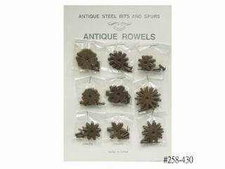 ANTIQUE BROWN ROWEL CARD