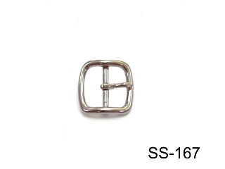 SS CURVED BUCKLE FOR STIRRUP LEATHER