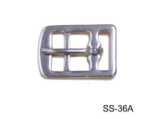 SS 3-BAR GIRTH BUCKLE  (STAMPED)