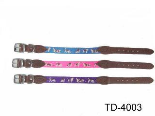 HIGH-QUALITY COW LEATHER DOG COLLAR