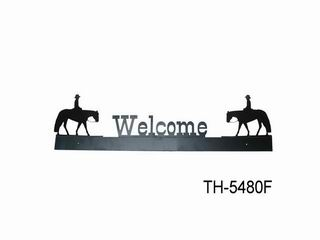 METAL WELCOME  SILHOUETTE SIGN