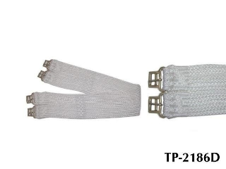 WHITE PP GIRTH, W/14 STRAND