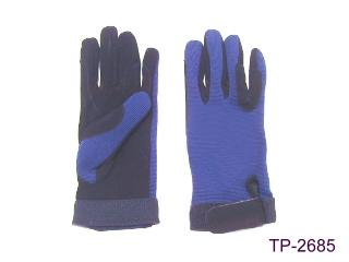 SUEDE TACK GLOVES WITH ELASTIC NYLON BACK