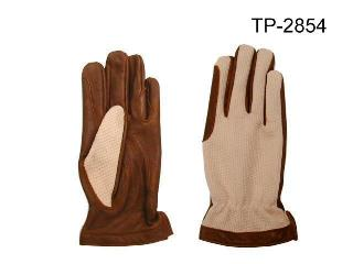 POLYESTER & COW LEATHER GLOVES
