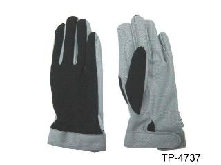 PU GLOVES W/ELASTIC NYLON BACK