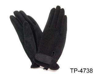 NYLON TOP & SUEDE GLOVES