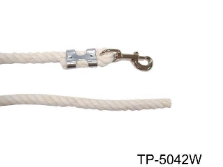 WHITE COTTON ROPE LEAD