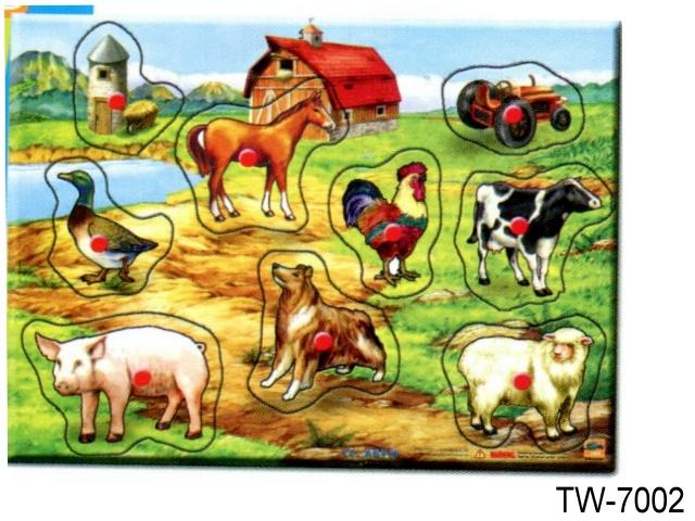 PEG PUZZLE FARM ANIMALS