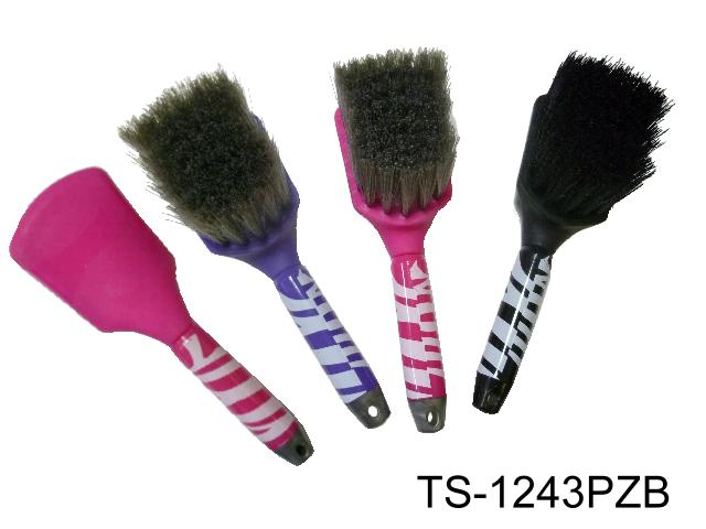 LONG HANDLE BUCKET BRUSH ZEBRA PRINT