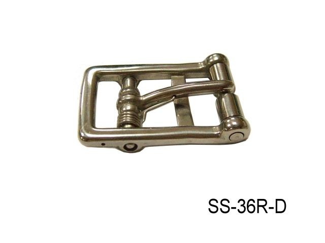 SS 2-BAR GIRTH BUCKLE W/SPRING